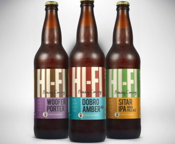Hi-Fi Brewing bottle labels